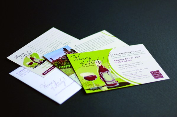 """LJS&C wine invitation """"Wines of Italy!"""" ~ Award of Excellence by Graphic Design USA"""