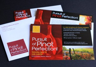 image of La Jolla Symphony Pursuit of Pinot Perfection! wine invite package
