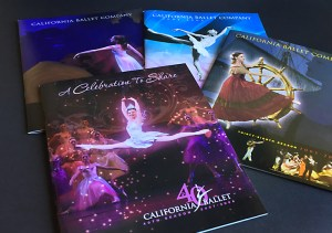 image of 4 California Ballet season brochures
