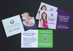 image of the MotherToBaby business cards