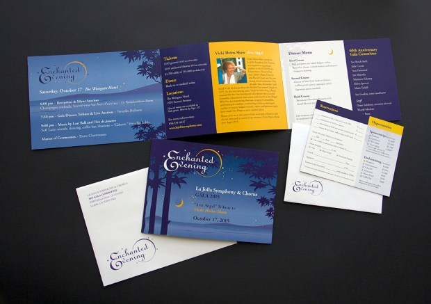 image of the La Jolla Symphony Enchanted Evening Gala 2015 invite package