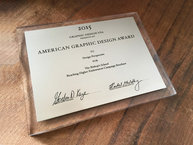 image of American Graphic Design Award 2015 to Design Perspective