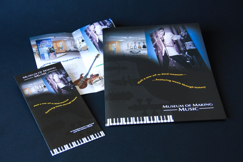Museum of Making Music brochure and folder