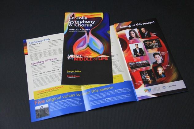 La Jolla Symphony & Chorus season brochure