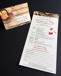 Bishops Grandparents Day invite card