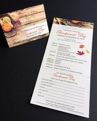 Bishops Grandparents Day invite card