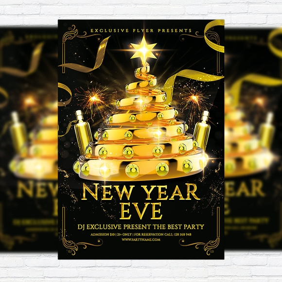 21 Best Free PSD Flyer Templates 2018 - Designpixy - free new years eve flyer template