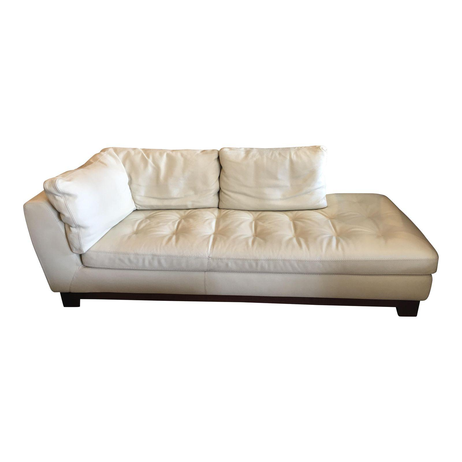 Chaises Roche Bobois Soldes Roche Bobois White Leather Chaise Sofa Design Plus Gallery
