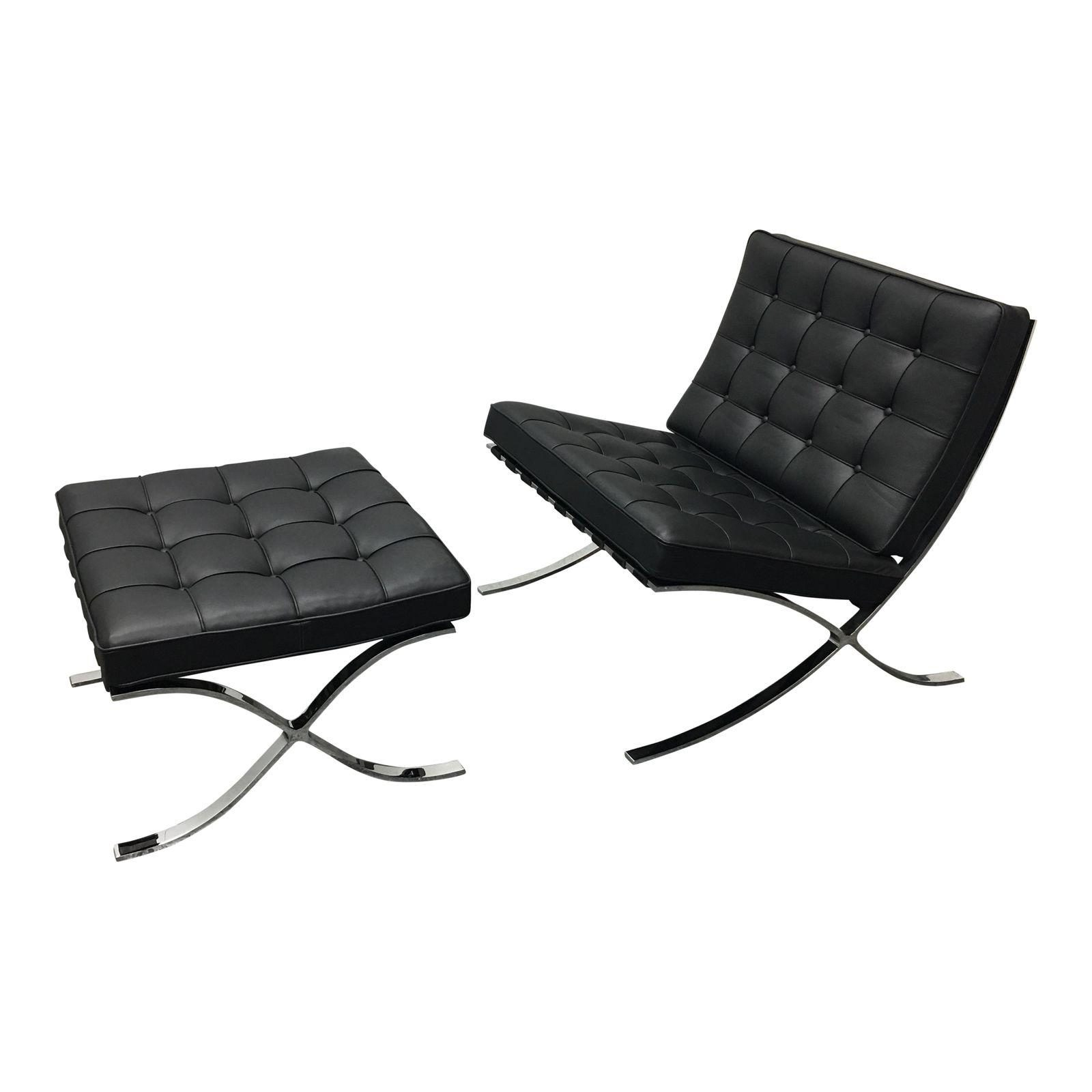 Chair Price Barcelona Chair With Ottoman Original Price 8 483 00 Design
