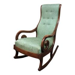 Small Crop Of Upholstered Rocking Chair