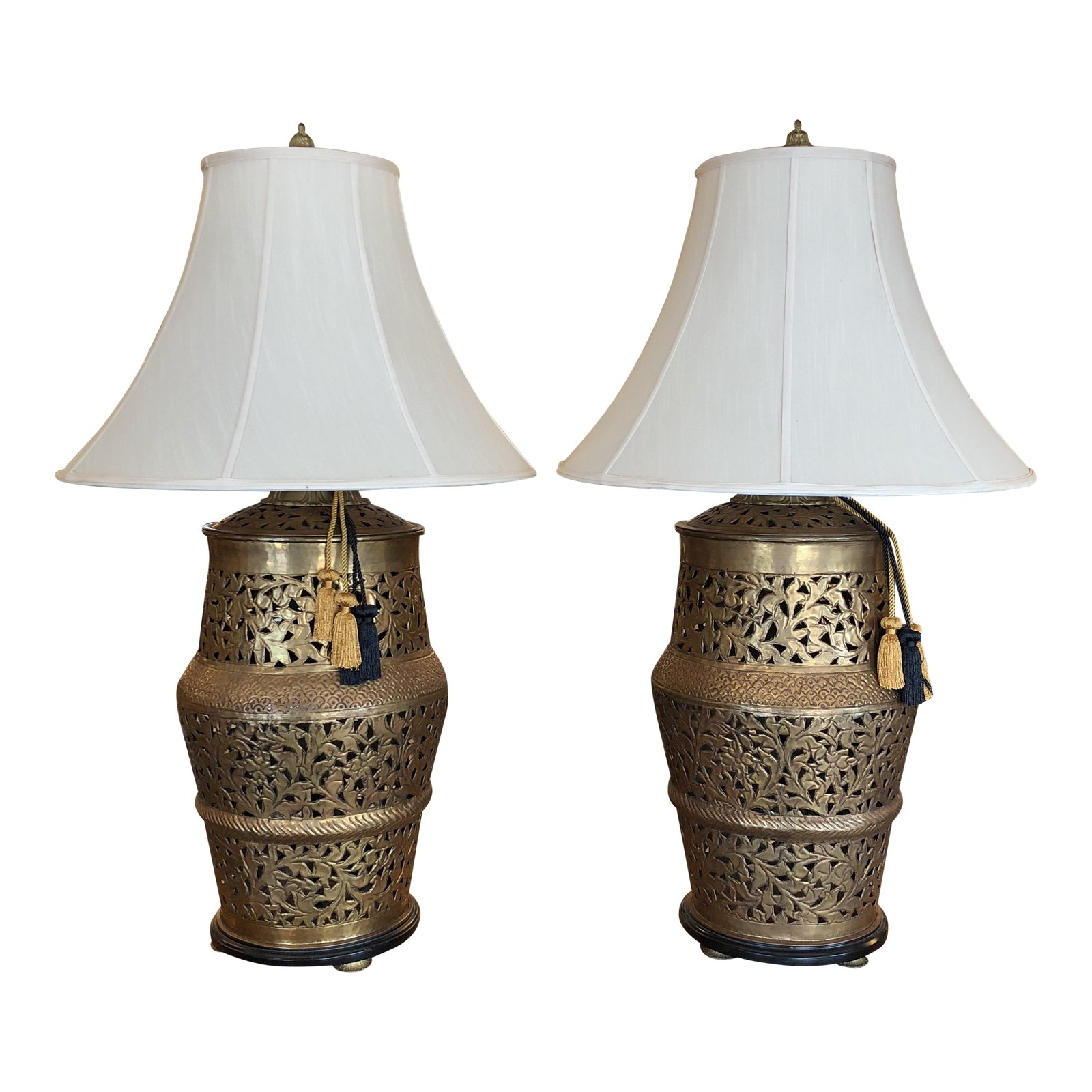 Asian Table Lamp Asian Pierced Brass Table Lamps A Pair Design Plus Gallery