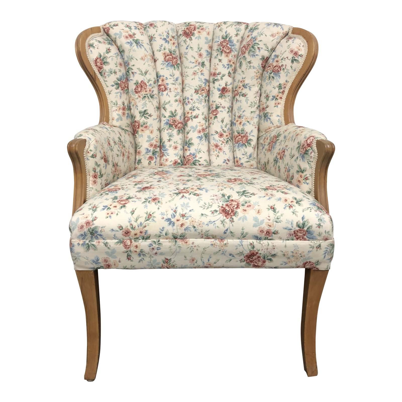Arm Chairs Mid Century French Style Floral Print Arm Chair Design Plus Gallery