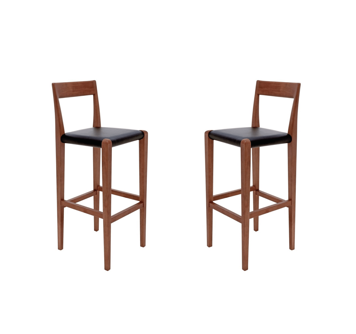 28 Barstools New Pair Of Nuevo Ameri Leather Barstools Original Price 1 166 Design Plus Gallery