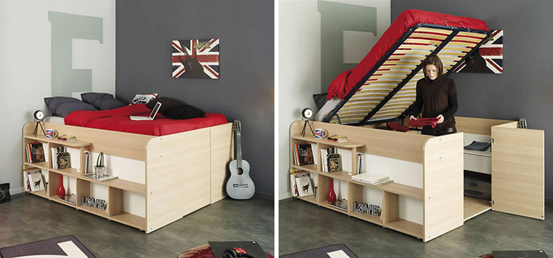 Lit Coffre 140x200 Ikea Space Up Bed With Storage From Parisot | Design