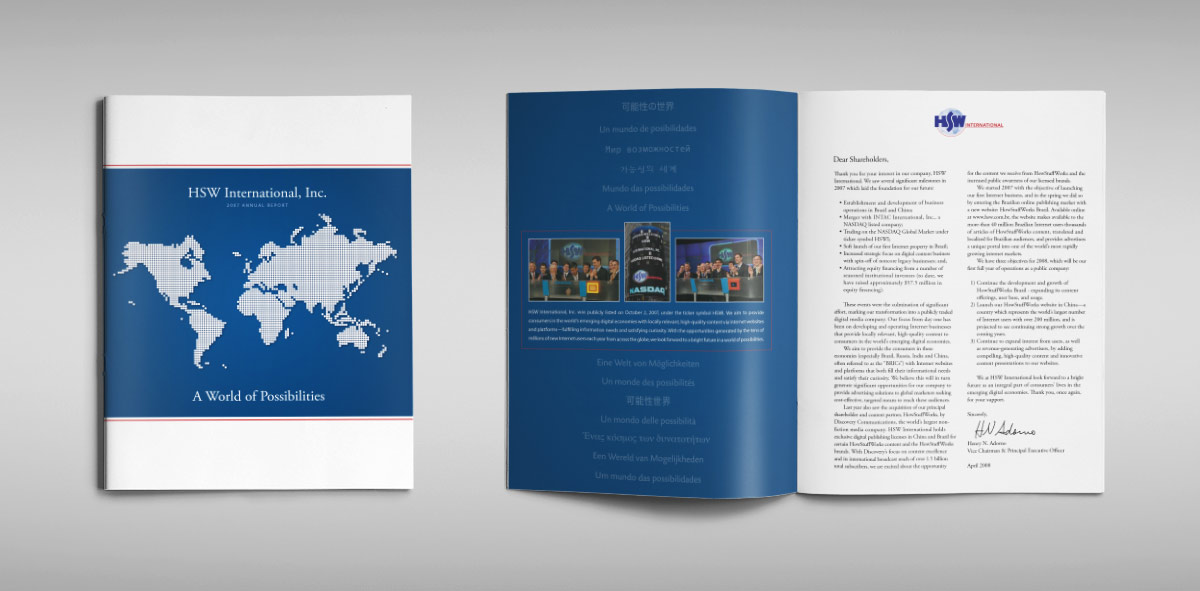 HSW International 10K Annual Reports - Design Positive