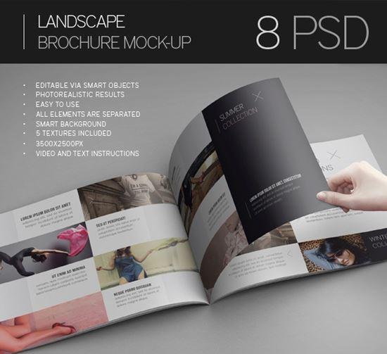 40 Free PSD Magazine, Cover, Book  Brochure Mockup - free landscape flyer templates