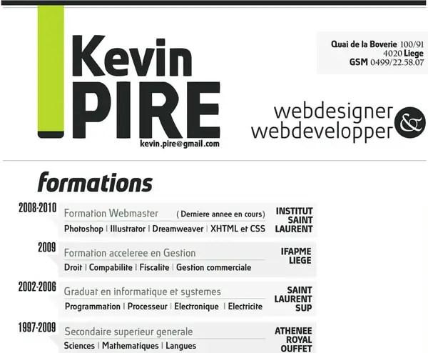 20 Smart and Creative Resume Design