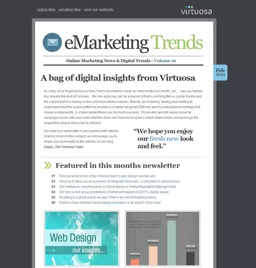 Email Newsletter Collection Of Inspirational Designs - designrfix - company newsletters examples