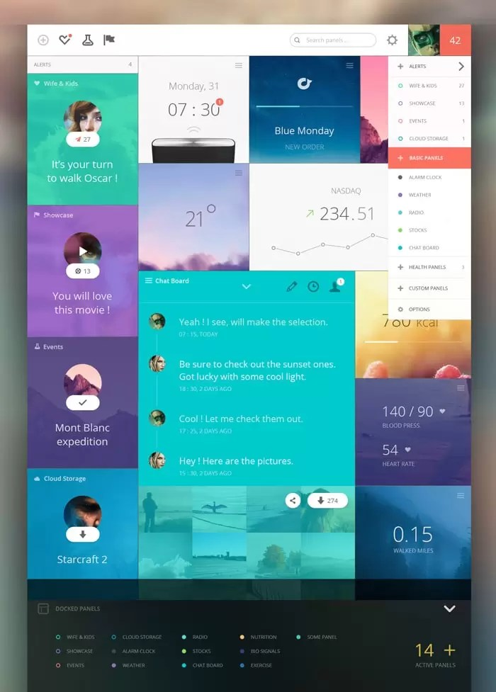 20+ Awesome Dashboard Designs That Will Inspire You - designrfix