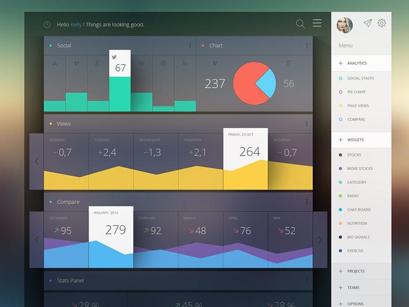 15 Inspirational Dashboard UI Designs DesignRope - dashboard design inspiration