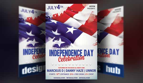 Independence Day Flyer Template - Designrshub