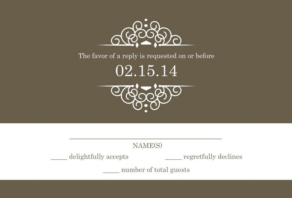 Wedding RSVP Wording -- Formal and Casual Wording You Will Love