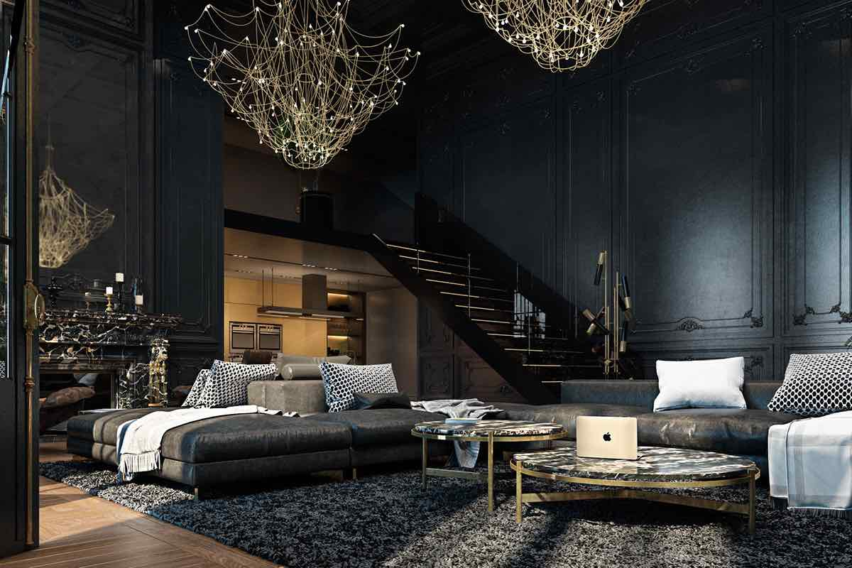 Paris Apartment In Black Gold Designs2love