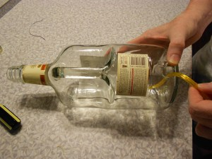 How to Make a Lamp with a Liquor Bottle 10