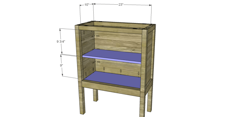 Free Plans to Build a Pier One Inspired Rivet Cabinet_Shelf & Bottom