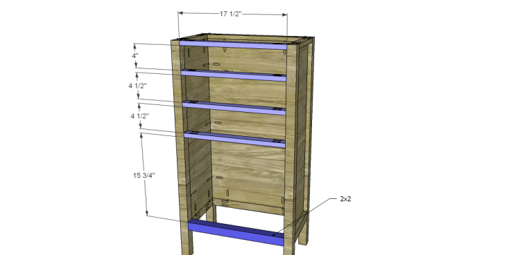 Plans to Build a Grandin Road Inspired Chloe Chest_Stretchers