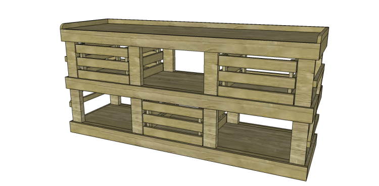 Plans to Build the Crates for the Napa Style Inspired San Marcos Sideboard-group