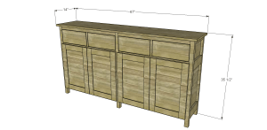 Plans to Build a Slim Sideboard
