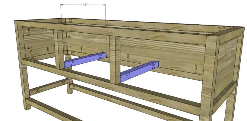 free plans to build a wisteria inspired chinese butcher table_Slide Supports