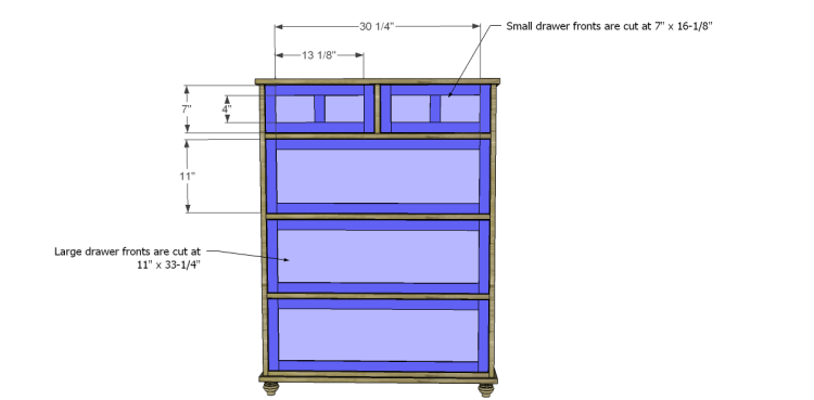 Free Plans to Build a Pier One Inspired Ashworth 5-Drawer Dresser_Drawer Fronts