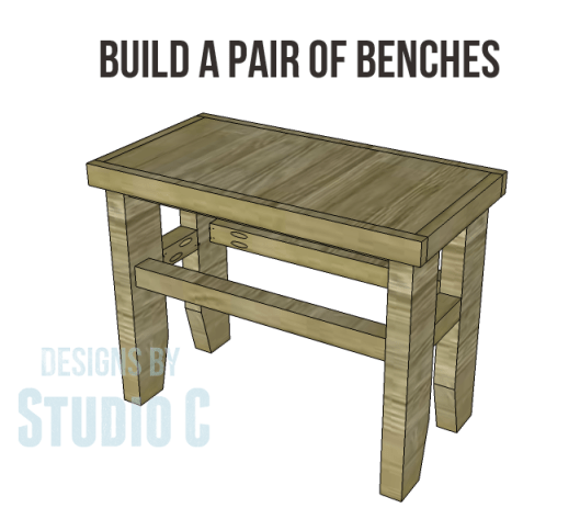free plans build napa style inspired fair square benches_Copy