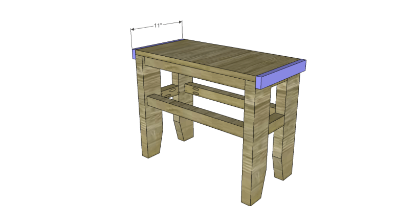 free plans build napa style inspired fair square benches_Side Aprons