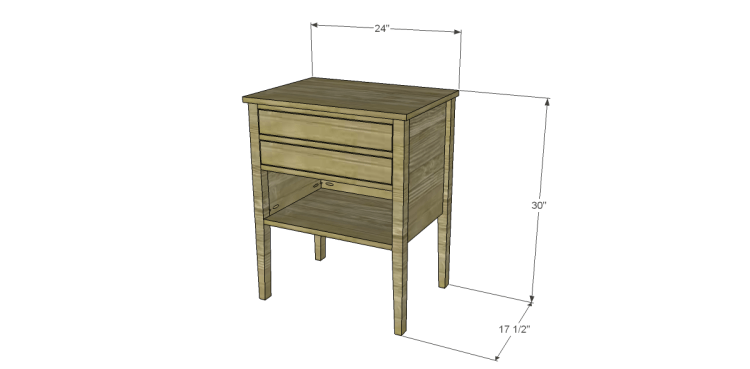 Free Plans to Build a Wisteria Inspired Dreamy Bedside Table