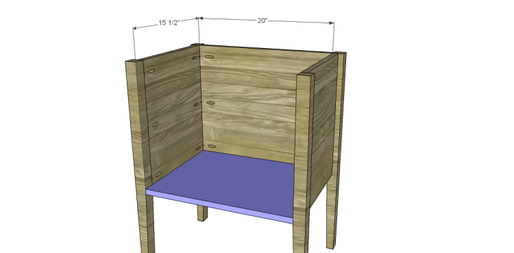 Free Plans to Build a Wisteria Inspired Dreamy Bedside Table_Bottom