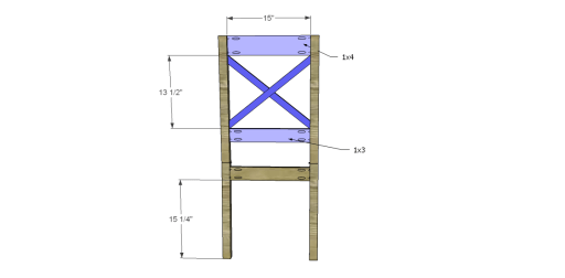 Free Plans to Build a Dining Chair 2_Back