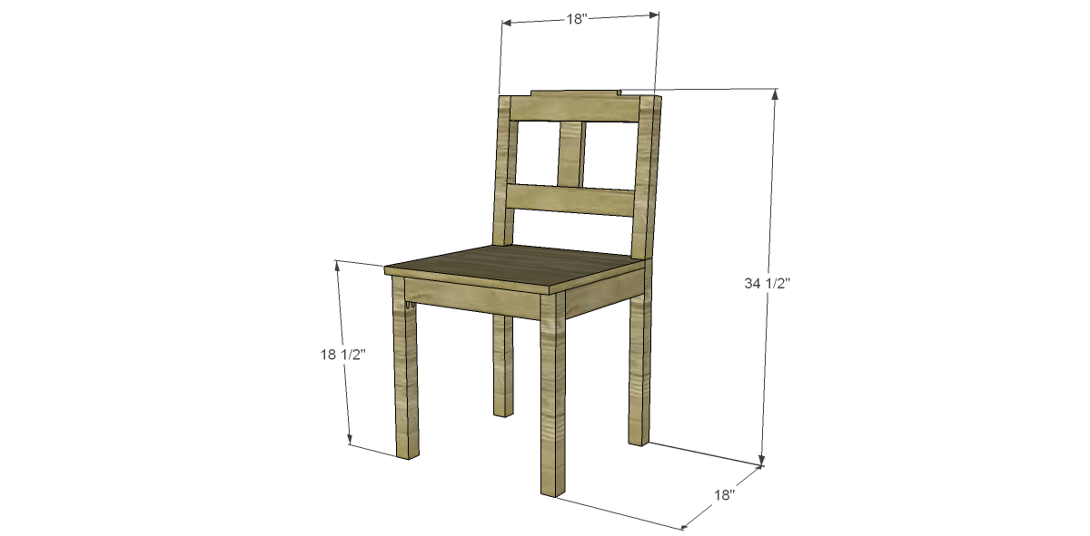free plans to build a dining chair 3