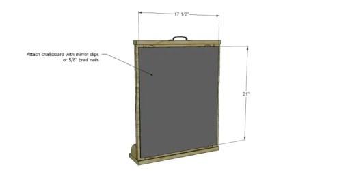 Free Plans to Build an Apple Art Easel_Chalkboard