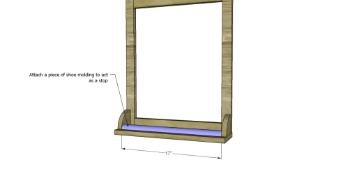 Free Plans to Build an Apple Art Easel_Shoe Molding