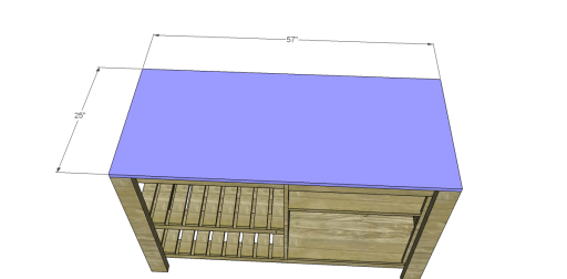 Free Plans to Build a New American Barnwood Kitchen Island_Top