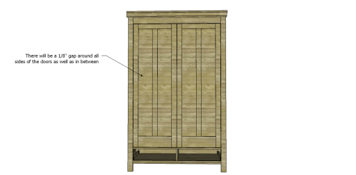 Free Plans to Build a 19th Century American Wardrobe_Doors 2