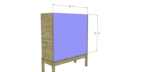 Free Plans to Build a Viva Terra Inspired Tradewinds Armoire_Back