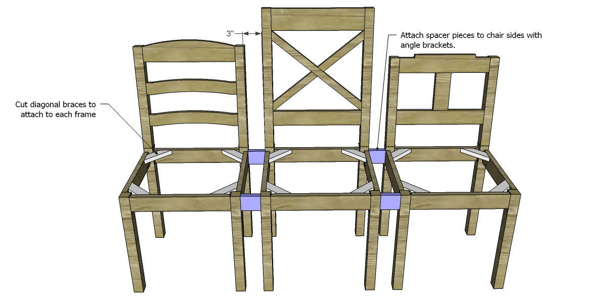 Free Plans to Build a Dining Chair Bench : BenchSpacers from designsbystudioc.com size 1200 x 591 png 88kB