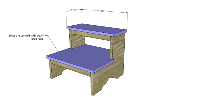 Free Plans to Build a Step Stool_Steps 2