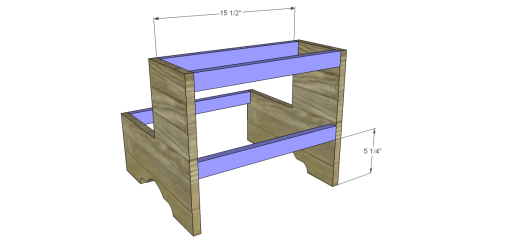 Free Plans to Build a Step Stool_Stretchers