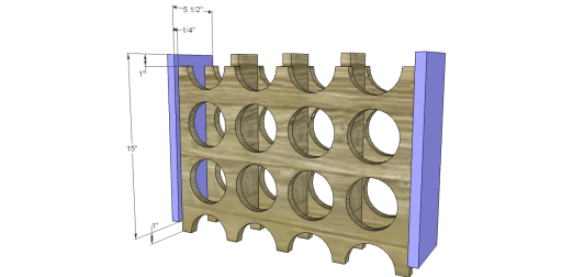 Free Plans to Build a Chesterton Wine Holder_Sides