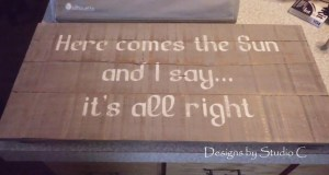 How to Make a Sign out of a Rustic Ammo Box Lid SANY1883